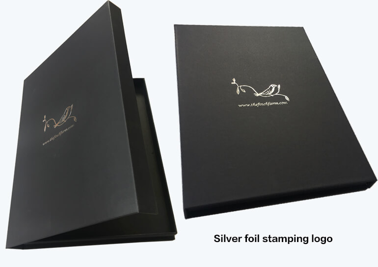 Silver Stamped Rigid Boxes