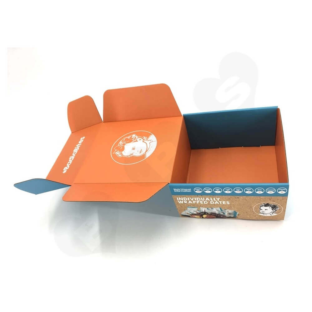 Snack Food Mailer Box Double Side Printing Side View Eight