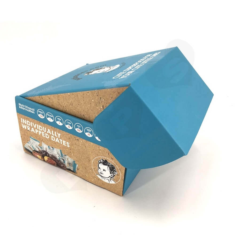 Snack Food Mailer Box Double Side Printing Side View One