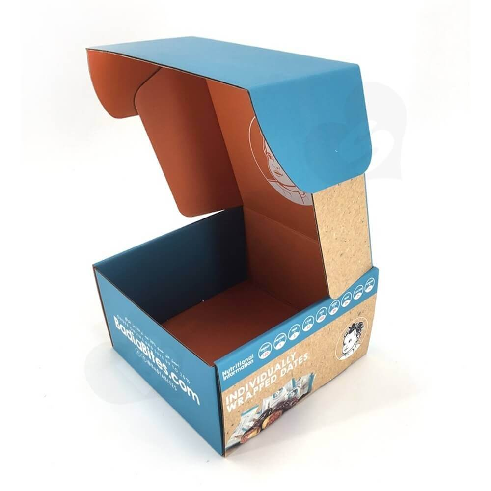 Snack Food Mailer Box Double Side Printing Side View Seven