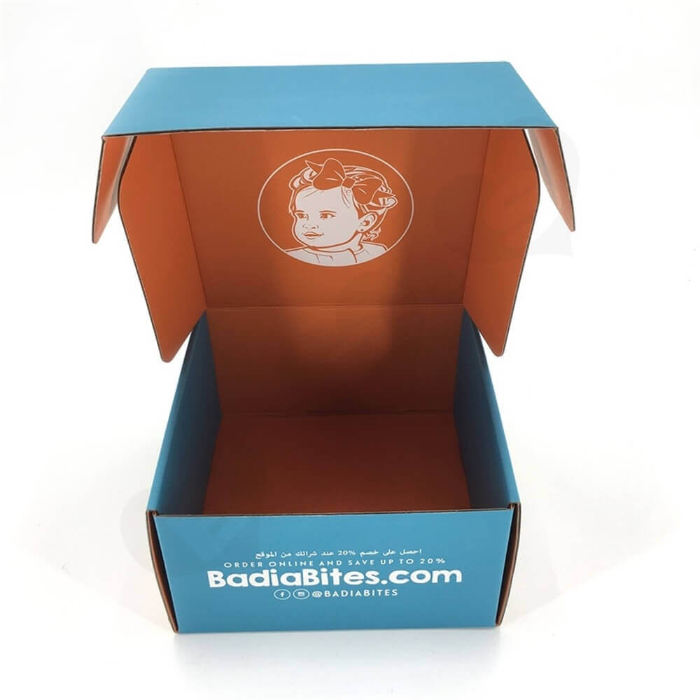 Snack Food Mailer Box Double Side Printing Side View Six