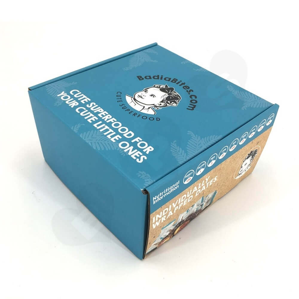 Snack Food Mailer Box Double Side Printing Side View Three