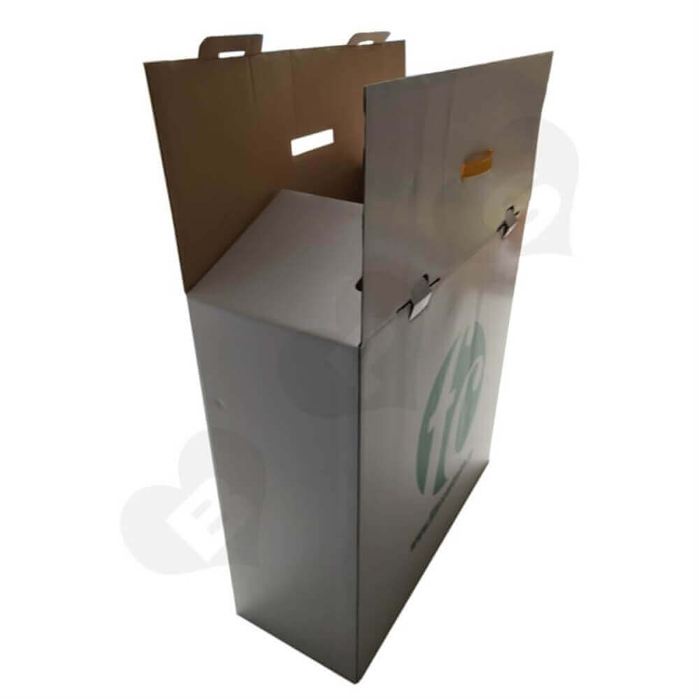 Snap Bottom Corrugated Shipping Carton Side View Two