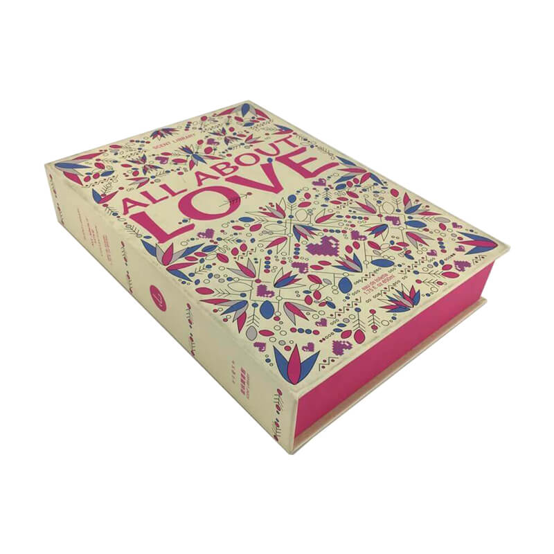 Specialty Paper Coated Cardboard Gift Box Book Shape