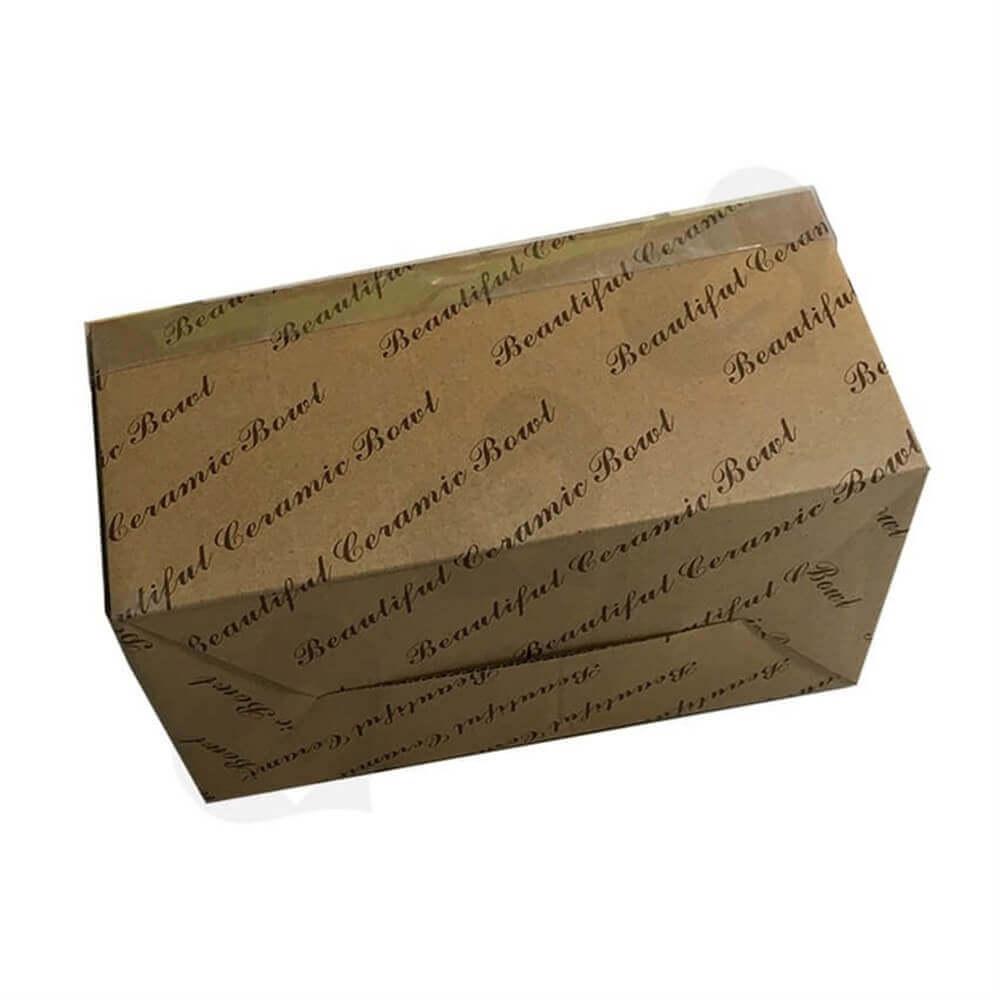 Tableware Retail Packaging Box Side View Five