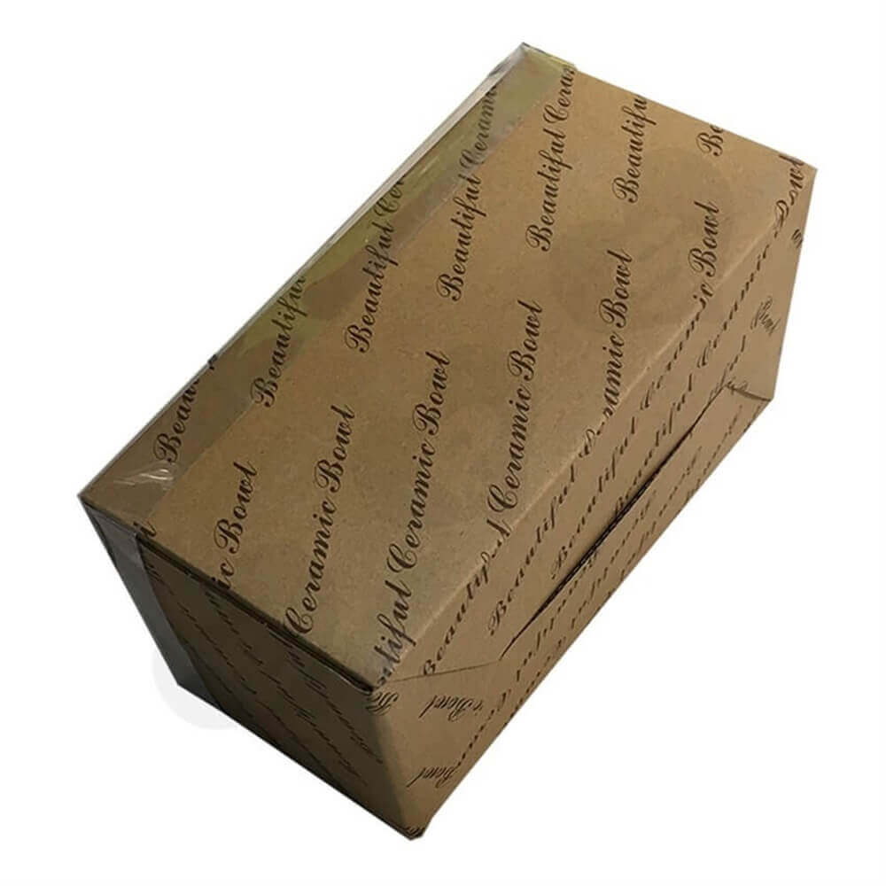 Tableware Retail Packaging Box Side View Six
