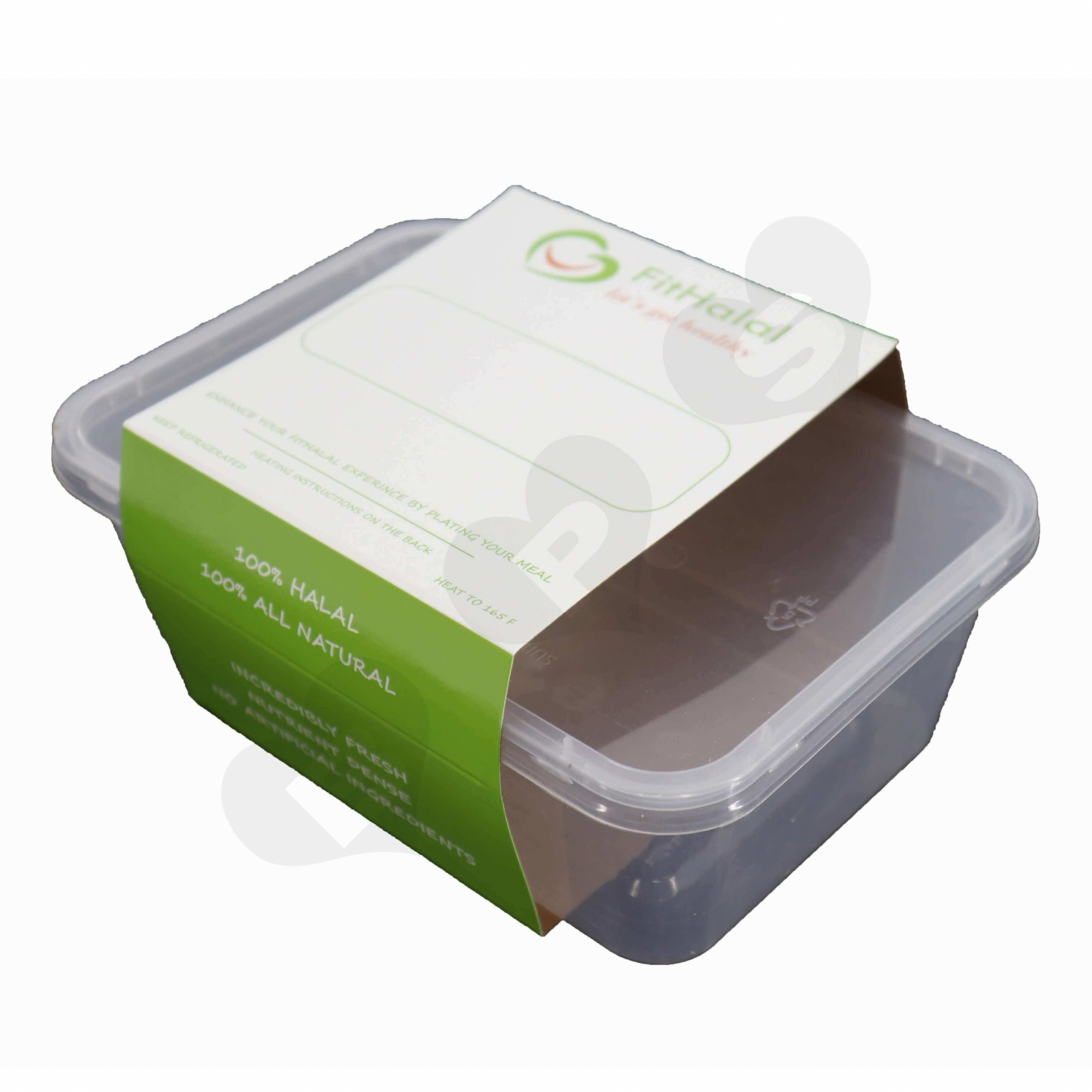 Take Away Box Paperboard Sleeve side view three