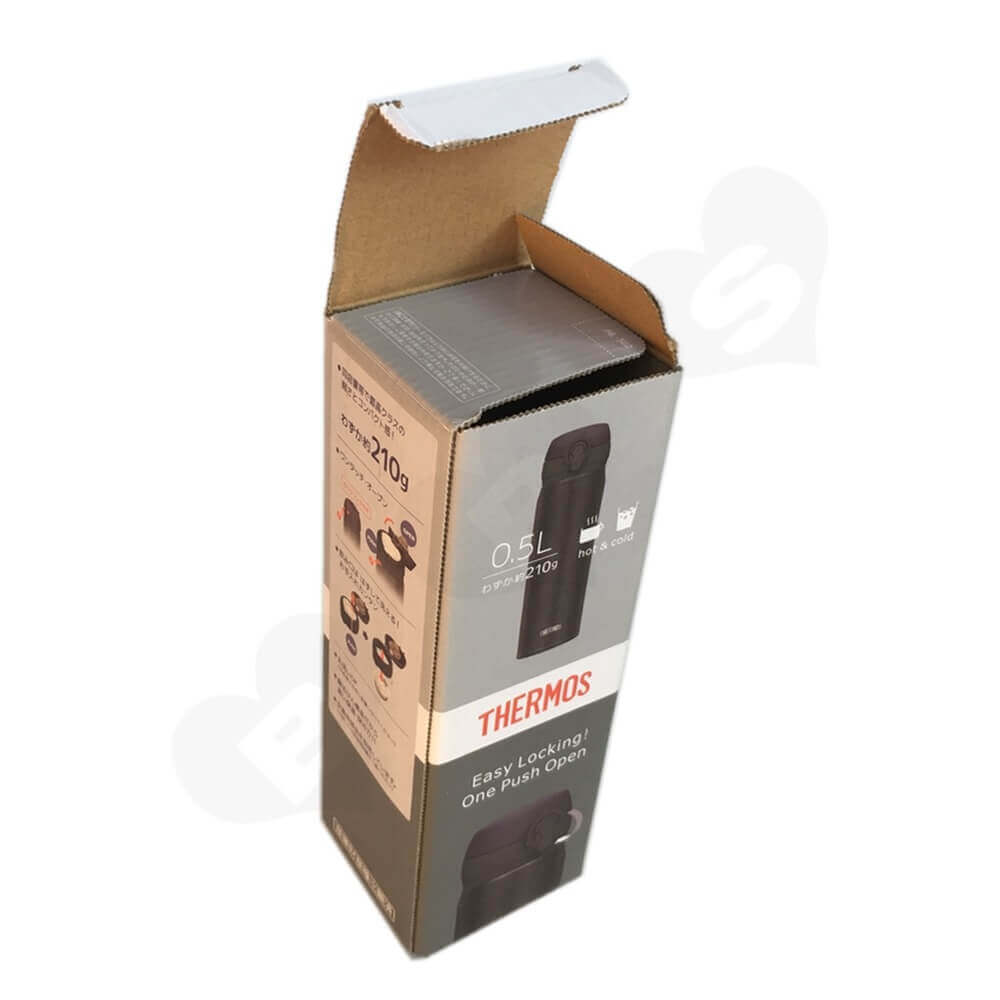 Thermos Cup Packaging Box Side View One