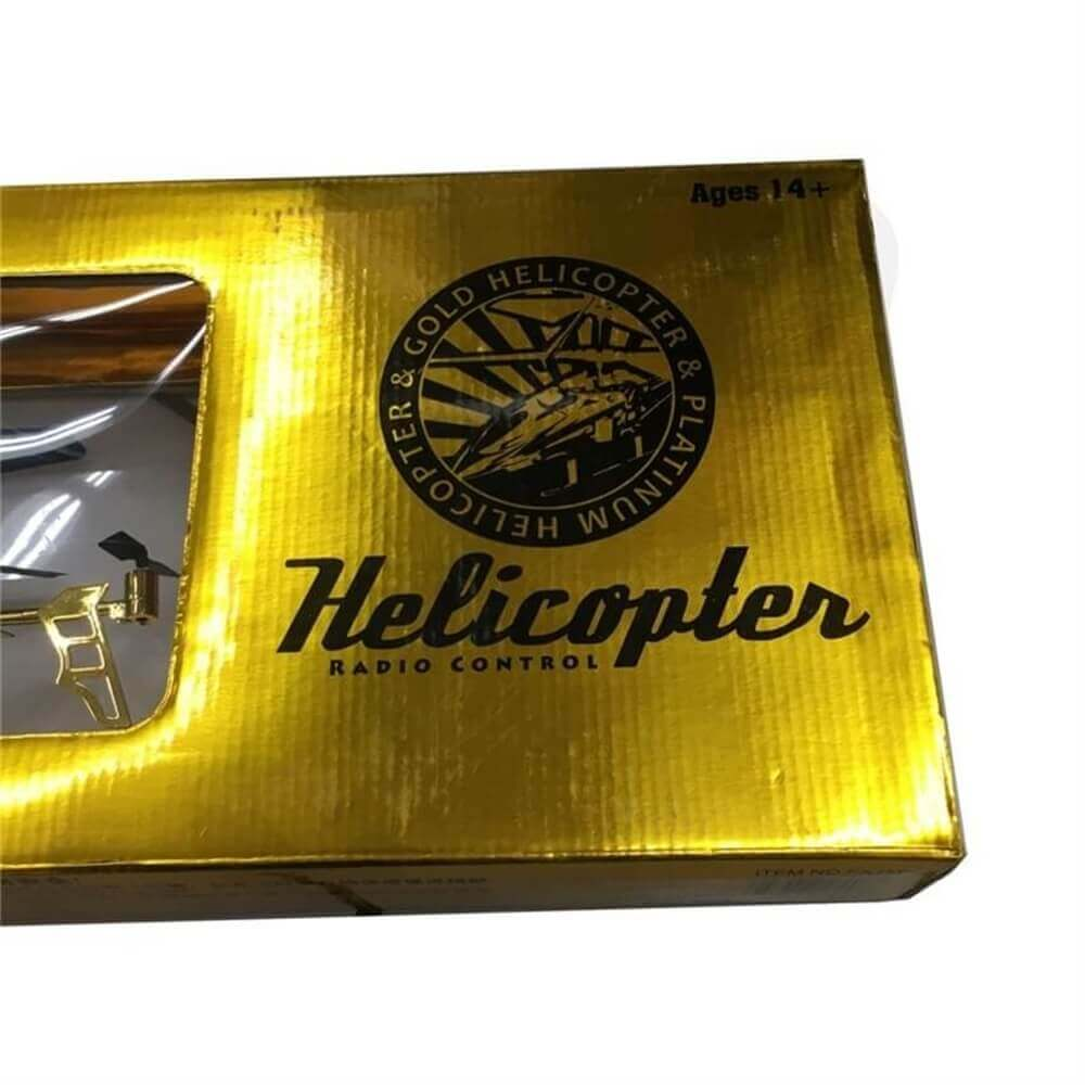 Toy Helicopter Retail Packaging Box Side View Four