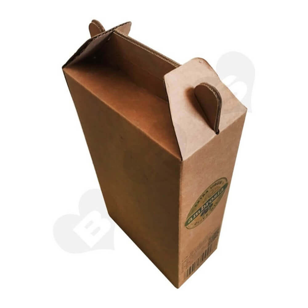 Two Packs Wine Carrier Box Side View Two