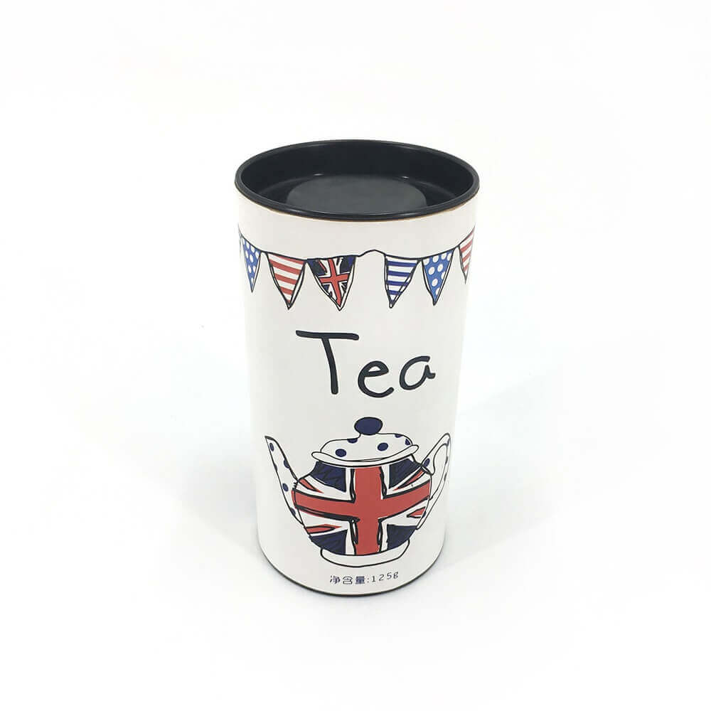 Uk Red Tea Packaging Tube Side View One