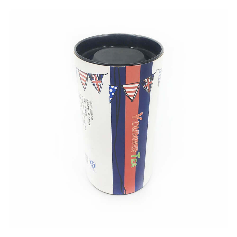 Uk Red Tea Packaging Tube Side View Two