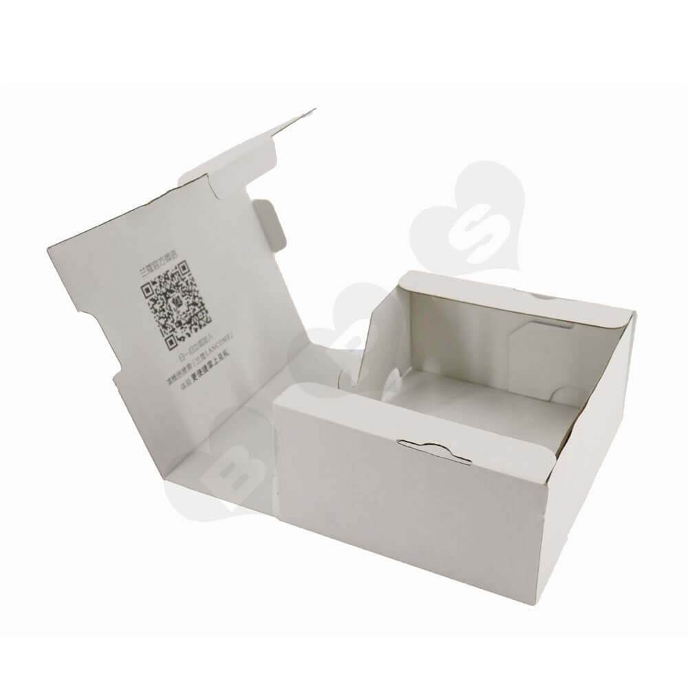 White Cardboard Cosmetic Packaging Box Side View Three