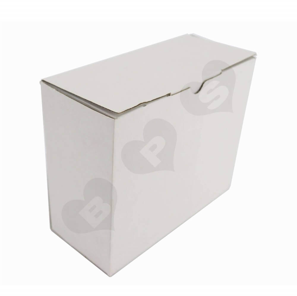 White Cardboard Cosmetic Packaging Box Side View Two