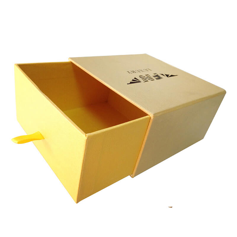 Yellow Specialty Paper Coated Rigid Drawer Box