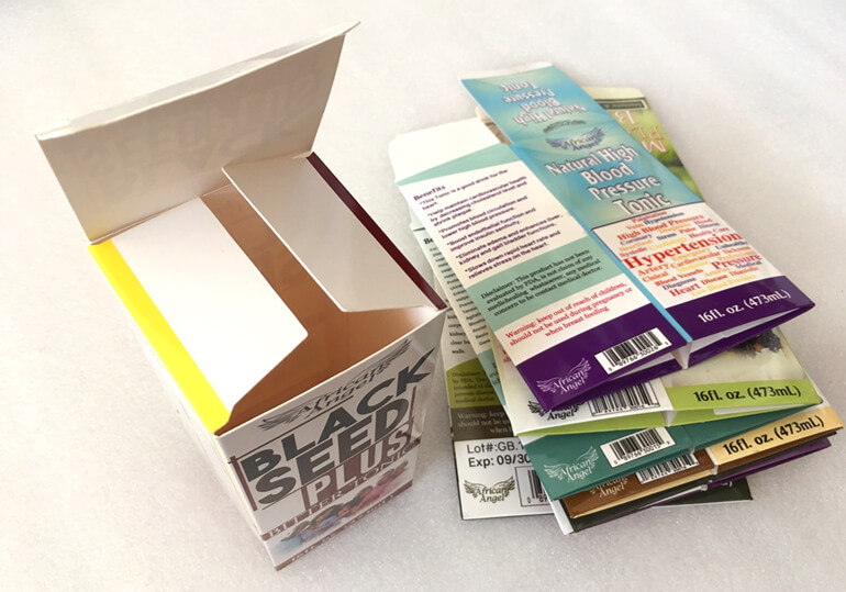 auto bottom paper boxes for health products