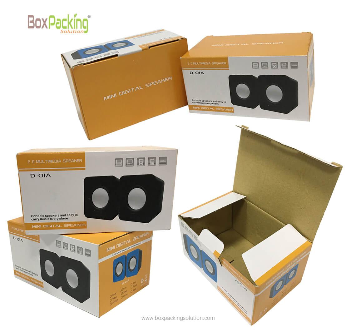 custom printed packaging, Mini digital speaker packaging boxes