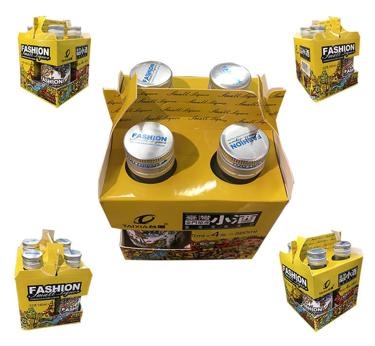 four pack beer carrier boxes