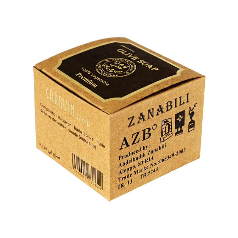 Brown Kraft Paper Box With Flexo Printing For Soap