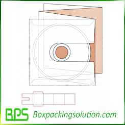 CD packaging box design template