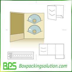 CD packaging die line template