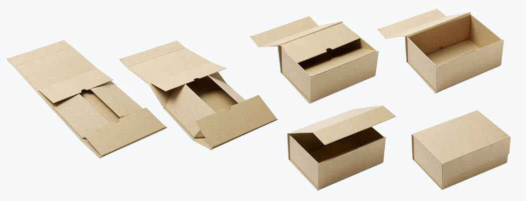 Collapsible Rigid Box Made From Kraft Paper Coating