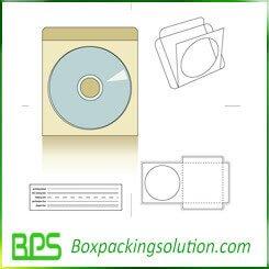 DVD packaging folder die line template