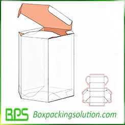 Hexagon shape packaging box layout design