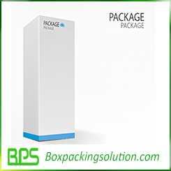 Hinged top rigid box design template