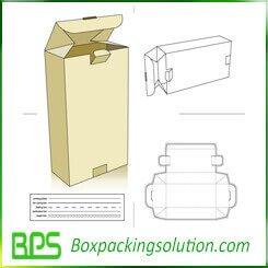 Medical packaging box die line template
