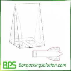 Pyramid shape gift box design