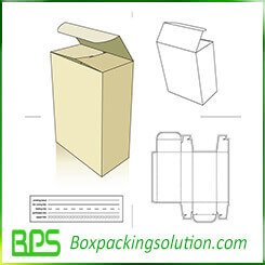 Reverse tuck end box packaging template design