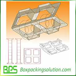 Round device packaging box design template