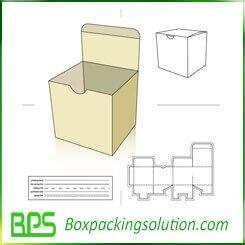 Tuck top snap lock bottom box die-line template