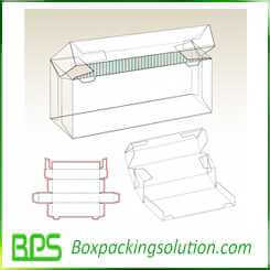 auto fold cardboard box design