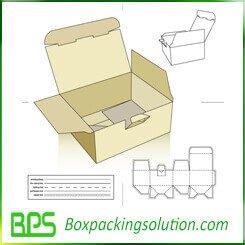 auto locked bottom cardboard box die line template