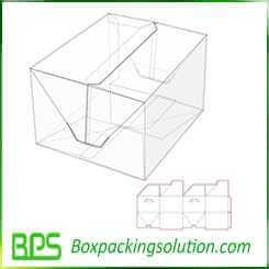 auto locked cardboard box design template