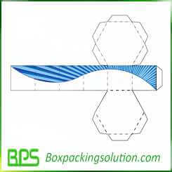 big round box with lid and bottom design template