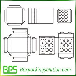 bottle packaging insert template