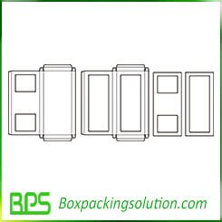box with PVC window template