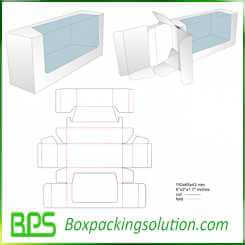 box with clear window and cardboard insert