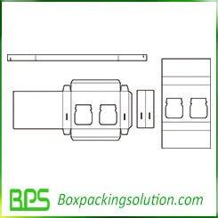 cardboard box for bottle die cut template