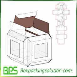 cardboard box with clear window design template