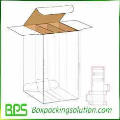 cardboard box with dividers