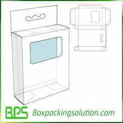 cardboard box with window design template