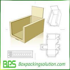 cardboard counter display die line template