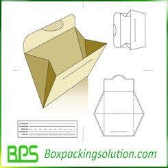 cardboard file storage bag template design