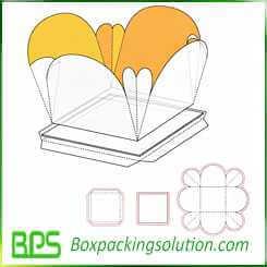 cardboard flower shape gift box design