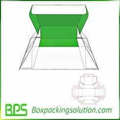 cardboard foldable box design template