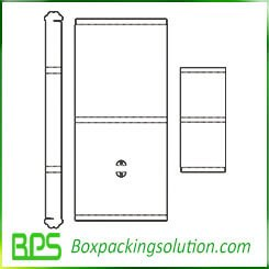 cardboard packaging box with printed sticker